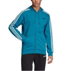 adidas Shirts - Men's Essentials 3-Stripes Fleece Zip Hoodie
